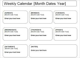 Weekly To Do Calendar Template Week Calendar Template 8 Free Word Documents Download Free