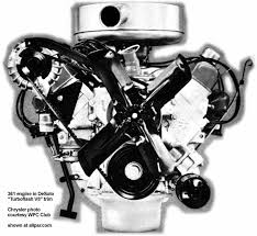the mopar chrysler dodge plymouth b series v engines  turboflash 361 v8
