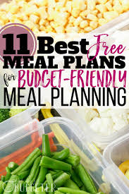 weekly meal plans on a budget 11 best free meal plans budget friendly meal planning busy budgeter