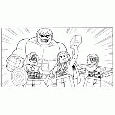 Lego Marvel Avengers Coloring Pages For Kids
