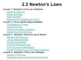 2 2 newton s laws lesson 1 newton s first law of motion
