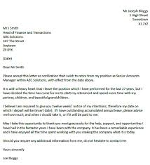 Letter Of Intent To Return To Work After Resignation You Can Use This Simple Retirement Resignation Letter