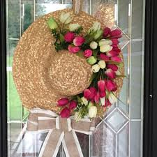 summer wreaths for front doorFloppy Hat Summer Wreath Summer door from OccasionsBoutique on