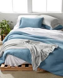 calvin klein modern cotton jersey ocean blue twin duvet cover pillowcases