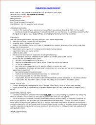 Typical Resume Format Amazing Download Proper Resumeormat Haadyaooverbayresort Examples Templates