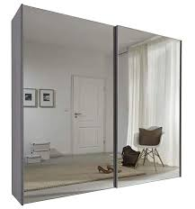 Schlafzimmer Komet White Mirror Sliding Door Wardrobe 236cm Wide