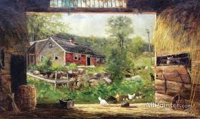 frank henry shapleigh paintings for old barn in jackson nh