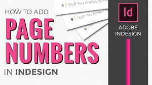 Design Page Number Page Numbers In Indesign Cc 2018 How To Add Using Master Pages
