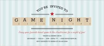 Game Night Invitation Template Blue Stripe Scrabble Pieces Game Night Invitation Game Night