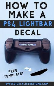 Turn Off Lights Stickers Free How To Make A Custom Ps4 Controller Lightbar Decal
