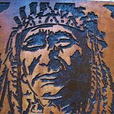 custom made native chief handmade wood carving wall art by american australia