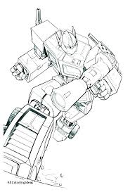 Transformer Rescue Bots Coloring Pages Of Transformers Optimus Prime