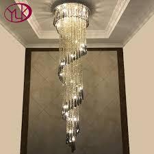 youlaike modern lighting chandelier for stair luxury smoky gray crystal light fixtures long hallway indoor lighting green chandelier multi coloured
