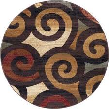 festival multi 5 ft x 5 ft round contemporary area rug