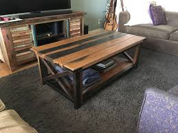 famous rustic wood diy coffee tables pertaining to diy rustic coffee table al on imgur