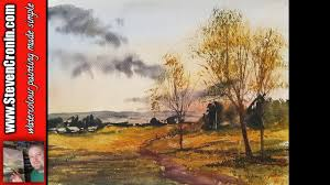 a walk in the park watercolour landscape painting demonstration