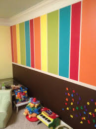 My daughter's dream playroom created by my super-talented friend! The  bottom is chalkboard and magnet paint.