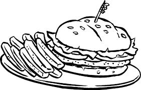 Disegni Da Colorare Hamburger Migliori Pagine Da Colorare