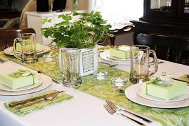 Irish Table Settings Stranded In Cleveland St Patricks Day Table Dccor Shamrock