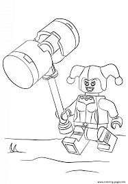 Lego Harley Quinn Coloring Pages Printable