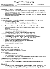 sample of experience resume