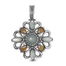 luna sterling silver and multi colored gemstone pendant enhancer yn pollack