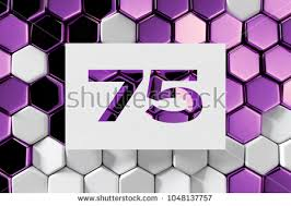 White Paper Cut Number 75 On Stock Illustration 1048137757 ...