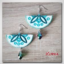 Machine Embroidery Jewelry Designs Embroidery Earrings Embroidery Jewellery Machine Embroidery