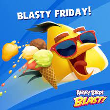 Angry Birds Blast - Blasting off to the weekend like Chuck. Hit that 'LIKE'  button if you relate. 🚀🎈💥