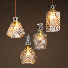 crystal glass pendant light creative