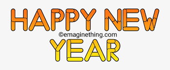 Happy New Year Text Png 2019-whatsapp Sticker,download - Orange ...