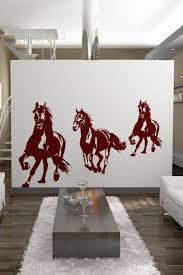 alternative views  on horse wall art decal with wall decals running horses walltat