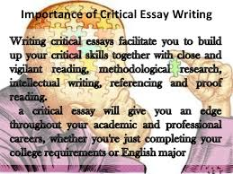 critical essays importance of critical essay writing