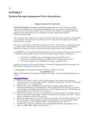 fema form appendix f caltrans damage assessment form instructions fema and
