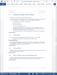 Step By Step Instruction Template User Guide Templates 5 X Ms Word Templates Forms