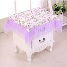 past fabric dust cover bedside cabinet small