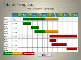 Download Gantt Chart 7 Powerpoint Gantt Chart Templates Free Sample Example Format