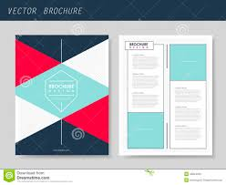 geometric style flyer template for business stock vector image geometric style flyer template for business