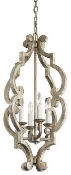kichler hayman bay mini chandelier distressed antique white