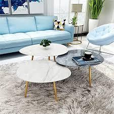 modern marble nesting tables