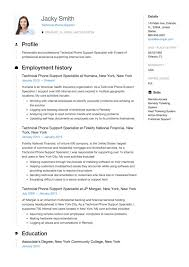 Phone Number On Resume Guide Technical Phone Support Resume 12 Examples Pdf