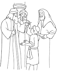 Small Picture Jesus in the Temple Coloring Page