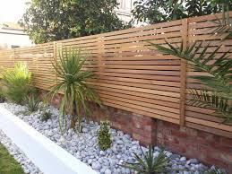 garden fencing. Cedar Slatted Fencing Garden