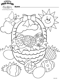 The free printable coloring page is certain. Free Easter Coloring Pages Happiness Is Homemade