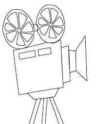 Small Picture Movie Projector Coloring Page Handipoints