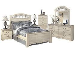 Amazon.com: Ashley Catalina 6PC Queen Poster Bedroom Set With Two ...