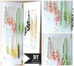 How To Make Jewelry Stands And Displays New Jewelry Holder Necklace Organizer Display Ideas Wall Diy Necklace