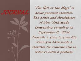 the gift of the magi rdquo is about personal sacrifice the police and 1 ldquothe gift of the magirdquo