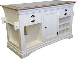 Granite Top Kitchen Trolley Details About Palais Cream Painted Furniture Large Granite Top