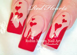 Long Red Nails with Hearts | Sexy Valentine's Day Nail Art Design ...